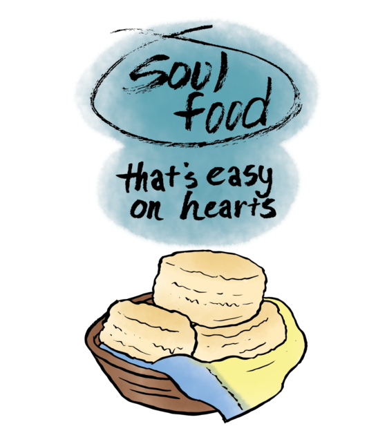 Digital copy of Soul Food That's Easy on Hearts, a dairy free southern style recipe zine.