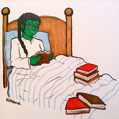 """Elphaba from """"Wicked: The Life and Times of the Wicked Witch of the West"""" by Gergory Maguire."""